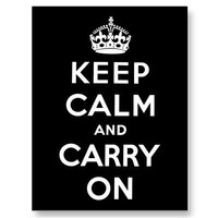 Keep Calm And Carry On Post Cards from Zazzle.com