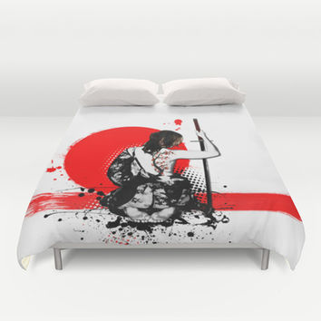 Trash Polka - Female Samurai Duvet Cover by Nicklas Gustafsson