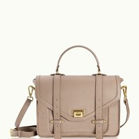 GiGi New York Hayden Satchel Stone Pebble Grain Leather