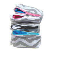Chevron Coin Purse. Zipper Pouch Design Your Own. Choose from 12 Chevron Colors and 12 Solid Linings and Zipper Colors