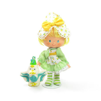 Mint Tulip Party Pleaser Doll with Marsh Mallard Duck Vintage Strawberry Shortcake Toy