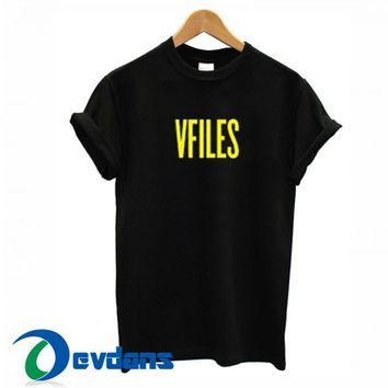Vfiles Font Graphic T Shirt Women And Men Size S To 3XL