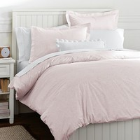 Mini Dot Duvet Cover + Sham, Blush