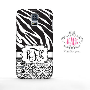 Zebra Loopy Damask Samsung Galaxy S6 Case, Galaxy Note 4 Case