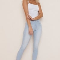 Striped High Rise Jegging