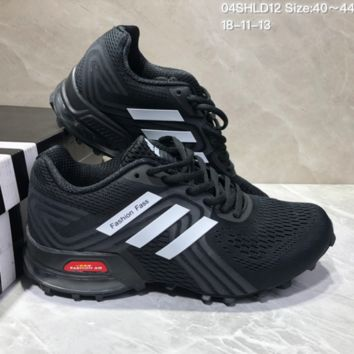 AUGUA A501 Adidas AL PHABOUNCE RUNNING SUPPORT Fashion AIR MAX Running Shoes Black