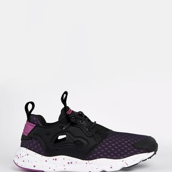 Reebok Fury Lite Black & Purple Trainers