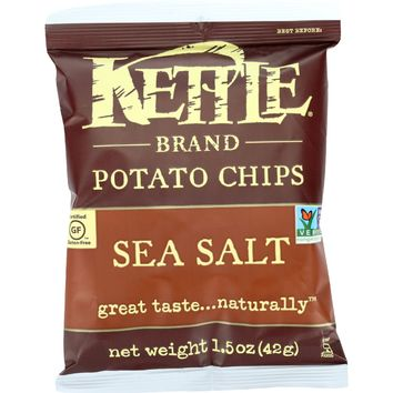 Kettle Brand Potato Chips - Sea Salt - 1.5 Oz - Case Of 24
