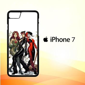 Poison Ivy Harley Quinn,Batgirl And Catwoman  Z0225 iPhone 7 Case