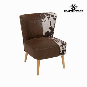 Wingback chair cow by Craften Wood