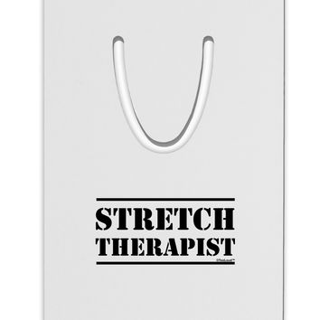 Stretch Therapist Text Aluminum Paper Clip Bookmark by TooLoud
