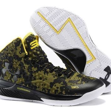 Under Armour Ua Curry One (1) Camo Black/taxi - Beauty Ticks