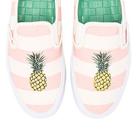 Slip On SF Sneaker in Pale Pink & Pineapple
