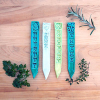 Terracotta Herb Labels - HERB LABELS - CLASSIC SET