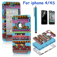 Fashionwoman — Totem Protective Case For Iphone 4/4s/5 with pen and sticker