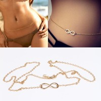 Gold Infinity Hip Chain