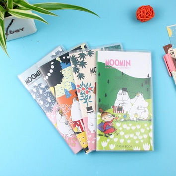 Cute Cartoon Moomin 48K PU Cover Notebook Diary Book Exercise Composition Notepad Escolar Papelaria Gift Stationery