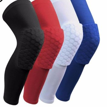 Honeycomb Sock Sport Safety Basketball Sports Knee pad Padded Knee Brace Compression Knee Sleeve Protector Knee Pads
