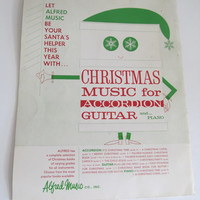 1961 Christmas Carols from Santa's Song Bag Sheet Music Christmas Songs Accordion Guitar Piano Music