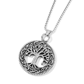 Stainless Steel Tree Pendant With Chain (24 in)