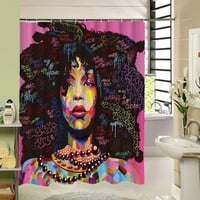 The Woman Shower Curtain