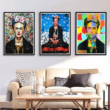Frida Kahlo Quote Portrait Canvas Painting Wall Art Print Posters Wall Pictures For Living Room Decal Wall Decor Printed Oil Pai