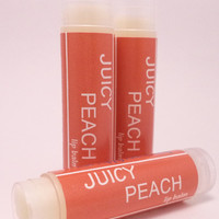 Juicy Peach Lip Balm - Natural Handmade Chapstick