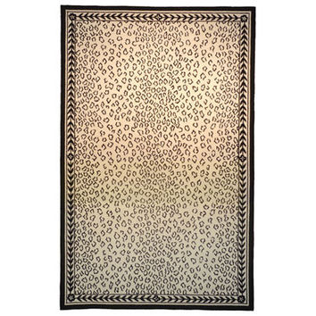 Safavieh HK15C-5R Chelsea White and Black Round: 5 Ft. x 5 Ft. Rug Rug - (In Round)