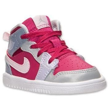 Girls' Toddler Jordan 1 Mid Flex Basketball Shoes