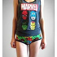 Marvel Junior Fitted Tank & Boyshort Set