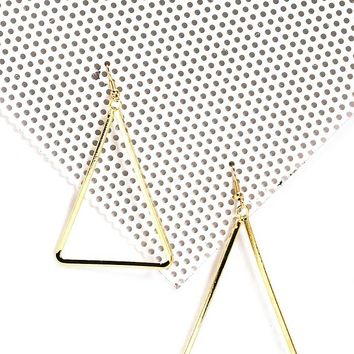 Side Note Triangle Earrings