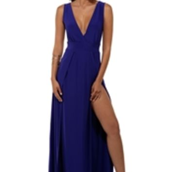 Missy Blue High Slit Dress