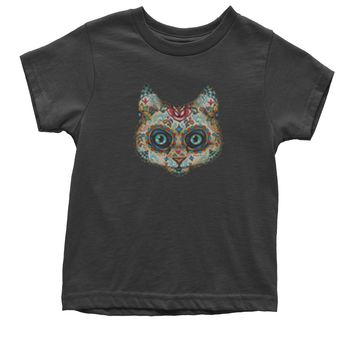 Cat Day Of The Dead Youth T-shirt