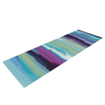 "Nina May ""Artika Blue"" Teal Purple Yoga Mat"