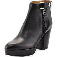 Acne Orbit Tabbed Leather Ankle Boot