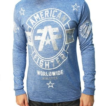 American Fighter Men's Silver Lake Long Sleeve Graphic T-Shirt