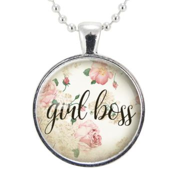 Girl Boss Necklace, Feminism Women Entrepreneur Jewelry, Lady Boss Pendant, Feminist Boss Babe