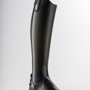 Tricolore by DeNiro Amabile Smooth Leather Black Dress Boot - Extra Short Height