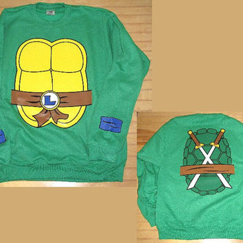Unisex Adults Sweatshirt Ninja Turtle Full Combo Michelangelo / Leonardo / Raphael / Donatello Halloween