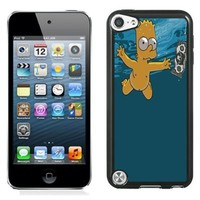 Charming Custom Design with Bart Simpson Black For iPod Touch 5th Generation Cover Case