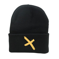 Embroidered 'X' Beanies