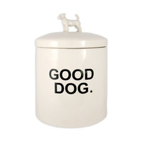 "Rae Dunn Good Dog ""Wilma"" Biscuit Jar"