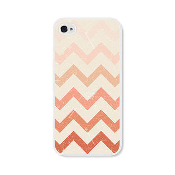 Cream and Peach Chevron iPhone 5 Case - Pink iPhone 5 Skin - Ombre iPhone 5 Cover - Coral Cell Phone Case