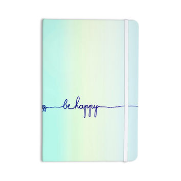 "Monika Strigel ""Be Happy Aqua"" Simple Blue Everything Notebook"