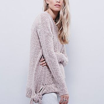 Free People Womens Side Tie Pullover