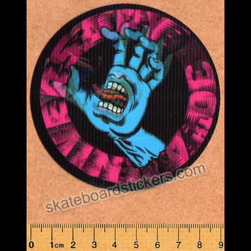 Santa Cruz 30th Anniversary Lenticular Screaming Hand Skateboard Sticker