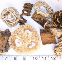 Natural Sampler Variety Pack for birds, rabbits, chinchillas, etc. - Parrot Toys & Bird Toy Parts by A Bird Toy