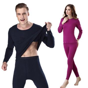 Men Warm Winter Bottom Underwear Tops & Pants Thermal Outfit Set Long Johns Pajama Set