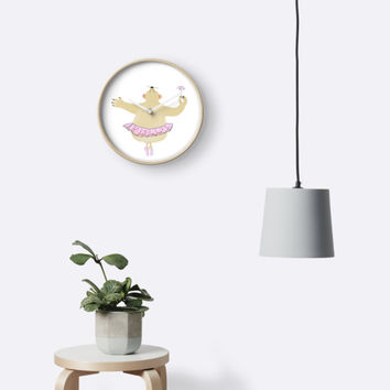 'Beatrice Loves Ballet' Clock by Susan Evans