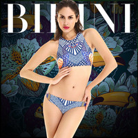 Fashion 2017 Trending Fashion Women Floral Printed Sexy Floral Printed Two-Piece Erotic Bikini Swim Suit Beach Bathing Suits Swimwear _ 13210